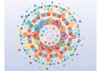 Free Colorful Circles Background - Kostenloses vector #144527