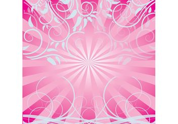 Free Pink Swirls Background - бесплатный vector #144547