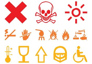 Signs And Symbols Set - vector gratuit #144747