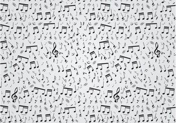 Musical Notes Pattern - vector gratuit #144757