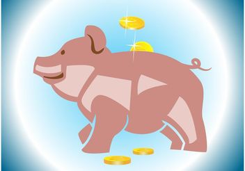 Piggy Bank - Free vector #144787