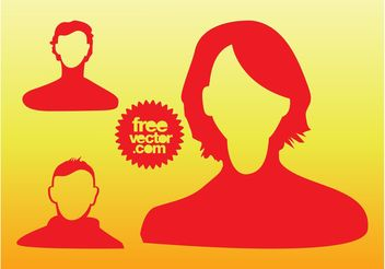 People Heads Graphics - бесплатный vector #144797
