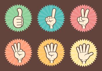 Free Counting Cartoon Hands Vector - vector gratuit #144807