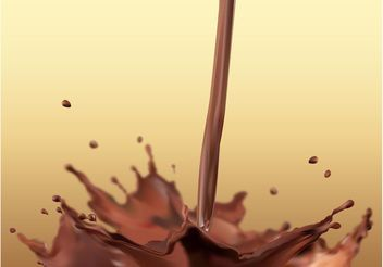 Chocolate Milk Splash - vector gratuit #144857