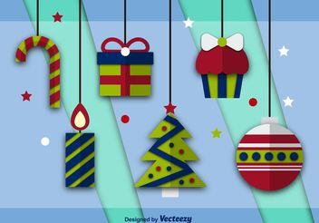 Flat Vector Christmas Icons - vector gratuit #144887