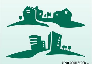 Buildings Silhouettes - Free vector #144897