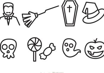 Halloween Outline Vector Icons - vector #144917 gratis