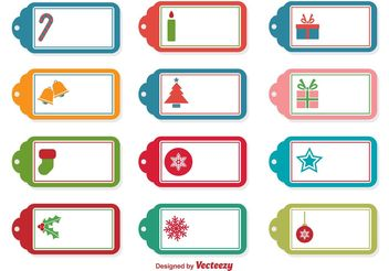 Christmas Vector Tags - Free vector #144937