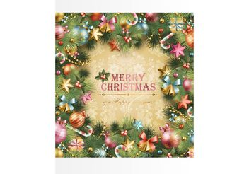 Christmas Wreath Design - Free vector #144967