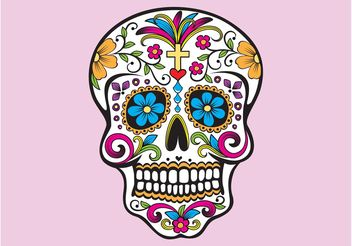 Mexican Skull - Free vector #144987