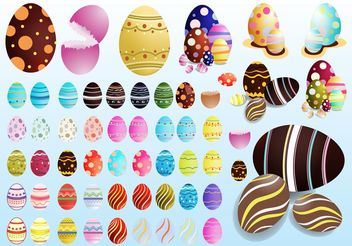 Decorated Eggs - Kostenloses vector #144997