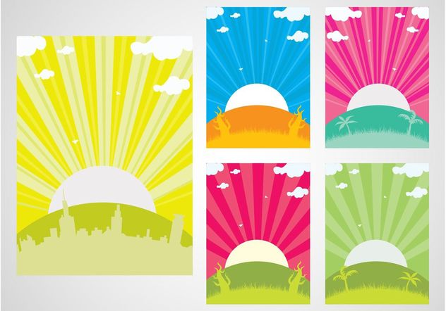 Sunset Backgrounds - Free vector #145207