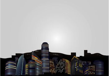 Big City Skyline - Kostenloses vector #145227