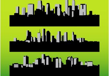 Cityscapes Vectors - бесплатный vector #145267