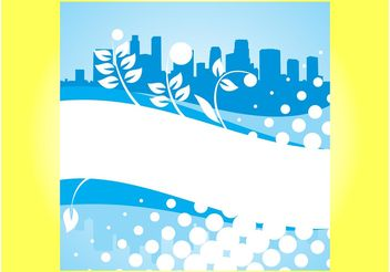 Abstract City Poster - Free vector #145287