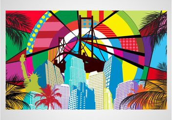 Pop Art City Vector - Free vector #145297