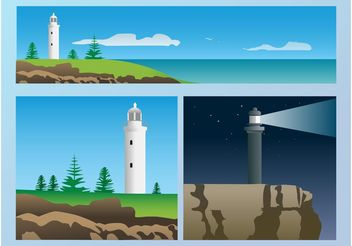 Lighthouse Graphics - vector gratuit #145307