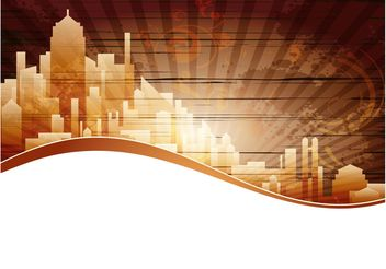 City Background Vector - Free vector #145327