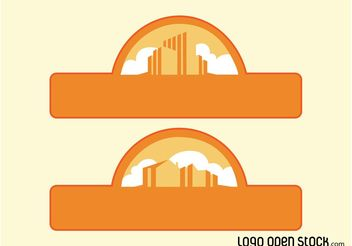 Vector City Labels - Free vector #145357