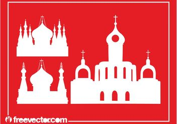 Orthodox Churches Silhouettes - Free vector #145377