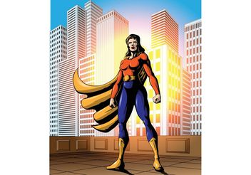 Bold Female Superhero Vector - vector #145417 gratis