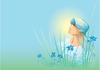 Nature Girl Graphics - Free vector #145487