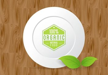 Free Organic Food Vector Design - Free vector #145497