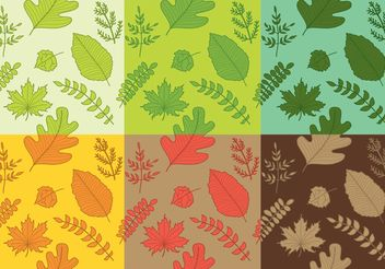Hand Drawn Leaves Pattern Vectors - бесплатный vector #145577