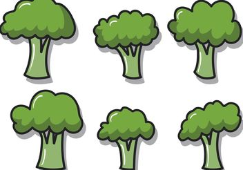 Broccoli Isolated Vectors - vector gratuit #145597