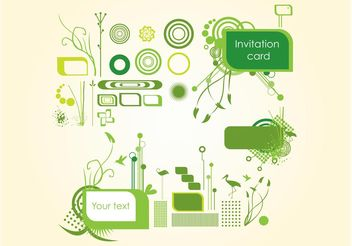 Organic Invitation Graphics - vector gratuit #145617