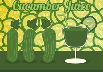 Cucumber Juice Vector - бесплатный vector #145637
