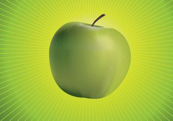 Green Apple Vector - Free vector #145667