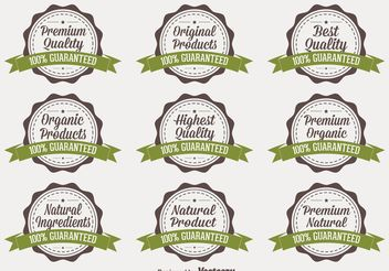 Organic Quality Vector Badges - Free vector #145747