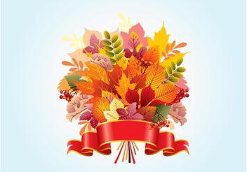 Autumn Leaf Vector Design - Free vector #145827
