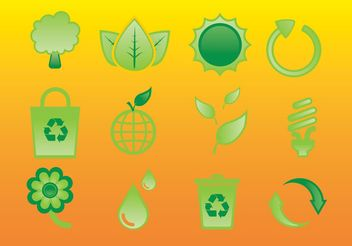 Glossy Nature Icons - vector #145887 gratis
