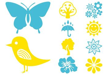 Plants And Nature Icons - Free vector #145897