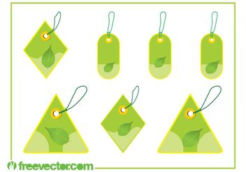 Eco Price Tags Set - vector gratuit #145927