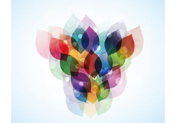 Colorful Shapes Design - Free vector #145977
