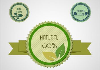 Natural Product Labels - vector gratuit #146057