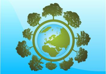 Tree World - vector gratuit #146117