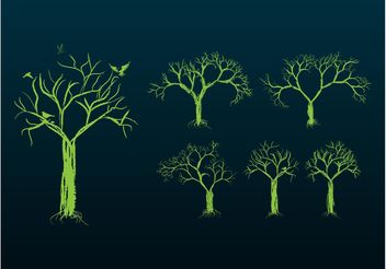 Tree Designs - vector gratuit #146137