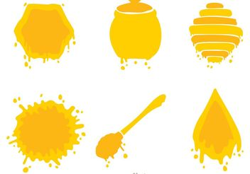 Honey Icons Vector - Free vector #146177