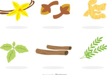 Collection Of Spices Vectors - vector gratuit #146187