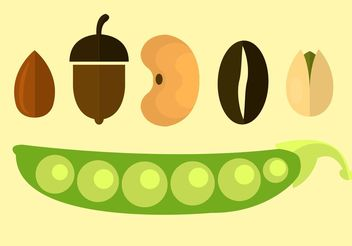 Vector Icons Of Seeds - vector gratuit #146207