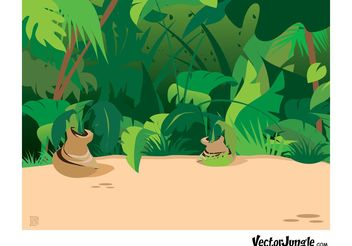 Jungle Plants - Kostenloses vector #146237