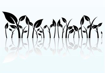 Reflected Plant Graphics - Free vector #146297