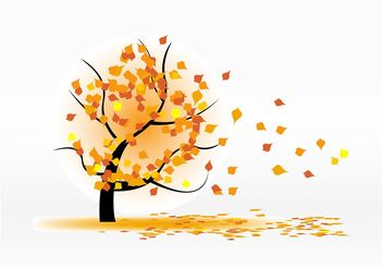 Autumn Leaves Blowing - vector gratuit #146337