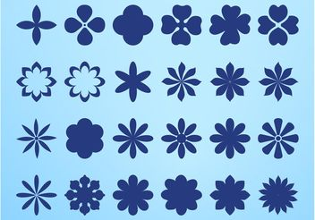 Flower Blossom Icons - vector gratuit #146487