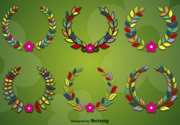 Spring and Flower Wreaths - Free vector #146517