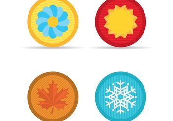 Season Vector Icons - vector gratuit #146537